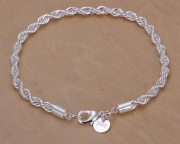 Free-Shipping-Jewelry-925-Silver-Bracelet-925-Silver-Rope-Chain-Bracelet-Fashion-Bracelet-Twisted-Singapore-Chain