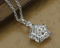 P180-fashion-jewelry-chains-necklace-925-silver-pendant-Small-empty-three-dimensional-star-bnrakeyasw